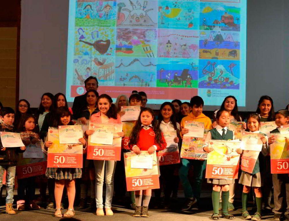 Calendario 50 Semanas Musicales 2018 contiene 37 dibujos de niños de Frutillar